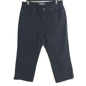 Ralph Lauren Womens Jeans Size 8 Black Capri